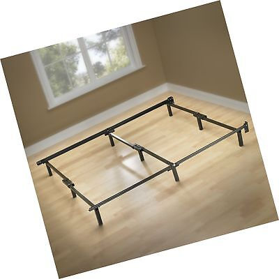 Metal Bed Frame 9 Leg Support For Box Spring And Mattress Set Cal
