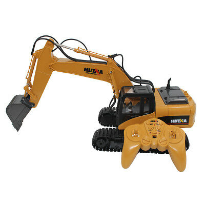 2.4G RC 15 Channel Remote Control Crawler Tractor Vehicle Dig Truck Yellow