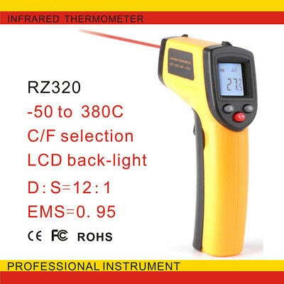IR Laser Gun Non-Contact Infrared Temperature Digital Themometer LCD Temp Meter