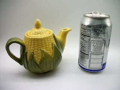 Vtg Shawnee CORN TEAPOT USA #65 Individual 14 Ounce to the Top Fall Decor