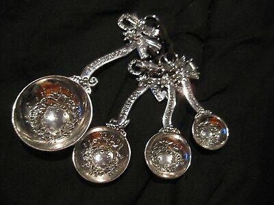 Ganz Christmas Angel Wreath Star 4pc Bent Measuring Spoons Set Winter Snowflake