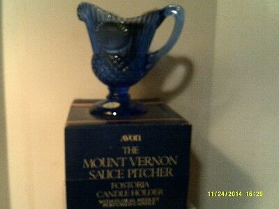VTG 1979 Avon MOUNT VERNON Fostoria PITCHER Candle Holder-NEW BOX-FREE SHIPPING