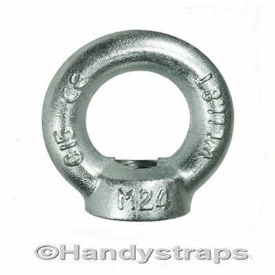 12mm 0.34 Ton Bright Zinc Plated Lifting Eye Nuts Towing Nut