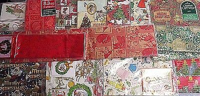 Vintage Christmas Gift Wrap, Wrapping Paper Lot, Sheet Packs