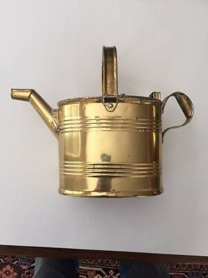 Antique Brass Maids Hot Water or 6 PT. Watering Can Army, Navy CSL