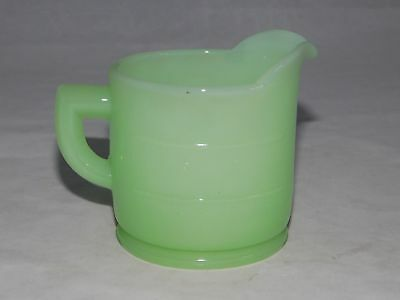 Vtg Depression Era Anchor Hocking Clambroth Green One Cup Measure Measuring Cup