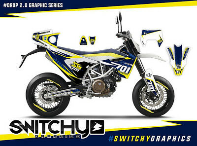 KIT ADESIVI GRAFICHE DROP per moto SM 701 DECALS DEKOR