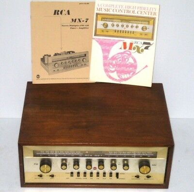 VINTAGE RARE RCA MX-7 AM/FM 6973 TUBE STEREO RECEIVER for LC1A Speakers