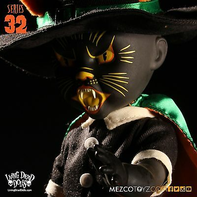 Mezco Living Dead Dolls Serie 32 Black Cat Hexe Action-Figur Horror Neu