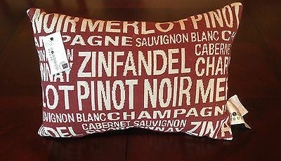 Cabernet/Champagne/Chardonnay/ Zinfandel Wine Pillow Wine NEW Vintage House