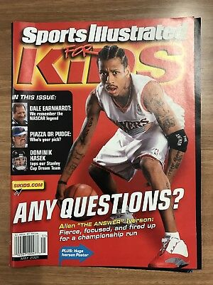 Allen Iverson Sports Illustrated For Kids Magazine May 2001