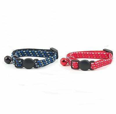 Ancol Softweave Elasticated Kitten Collar with Bell ,Safety Buckle