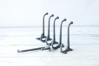 5 Antique Harness Hook Barn Hook Cast Iron Tack Hanger Rack Hook