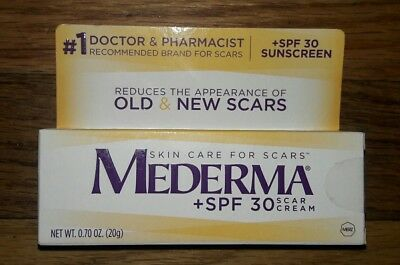 New Sealed Mederma SPF 30 Scar Cream 0.70 oz 20g Skin Care SunScreen
