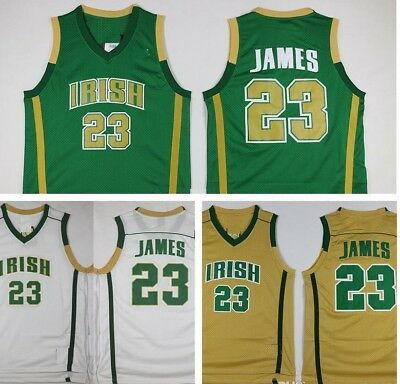 LeBron James St. Vincent St. Mary Irish High School Basketball Jerseys - S - 3XL