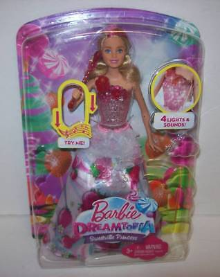Barbie Dreamtopia Sweetville Princess Doll with Lights & Sounds NEW