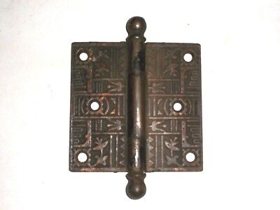 Antique Eastlake Door Hinge 3 1/2 x 3 1/2 really rare design