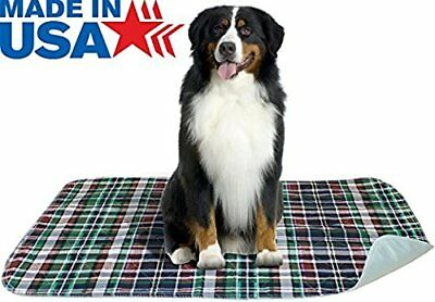 PLAID WATERPROOF REUSABLE QUILTED WASHABLE UNDERPAD - PUPPY/DOG TRAINING 24x36