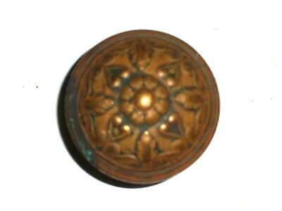 "Antique Eastlake Raised Palm Style Door Knobs 2 1/4"" Large Knob"