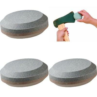 Dual Grit Puck Axe And Tool Multi-Purpose Sharpener Easy-to-grip Contoured Shape