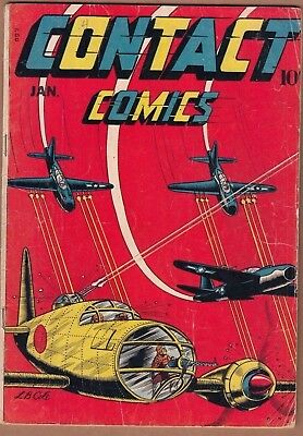 CONTACT COMICS #4  *L.B COLE cover* (1944) FN- Solid! Nice!