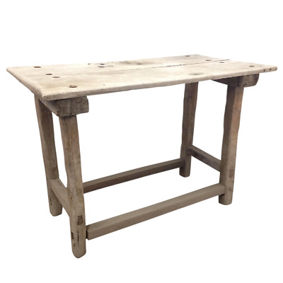 Antique Early 19th Century Primitive Rustic Mexican Side Work Table