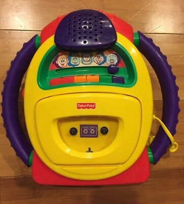 2002 Fisher Price Tuff Stuff Voice Warp Cassette Tape Player Microphone Recorder
