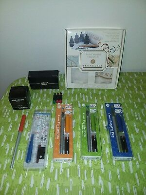 CALLIGRAPHY SET SENNELIER Pilot Mont Blanc Writing Letter Art Ink LOT