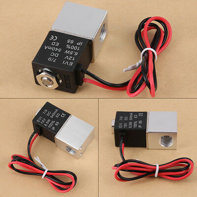 1/4' DC12V 2 Way Normally Closed Pneumatic Aluminum Electric Solenoid Valve SG