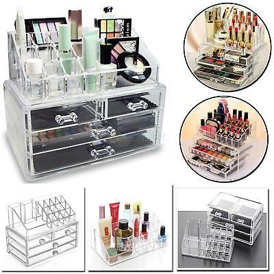 Acrylic Jewelry Makeup Cosmetic Organizer Case Display Holder Drawer Storage BST