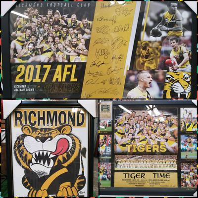 Collectors Memorabilia Richmond Tigers Premiers Framed Posters