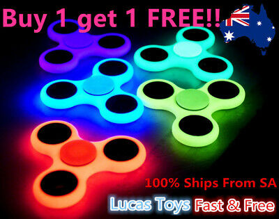 Glow In The Dark Fidget Spinner Hand Fingers EDC Focus Stress Reliever Toys GIft