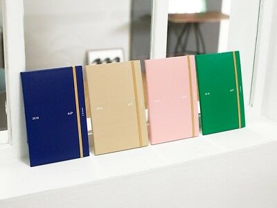 [2018 64p Diary] Dated Daily Monthly Yearly Planner Journal Scheduler Memo Note