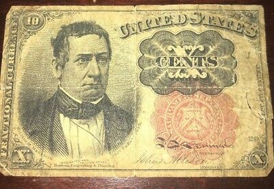 1874 Fifth Issue US Fractional Currency 10 Cent Note * US Paper Money *
