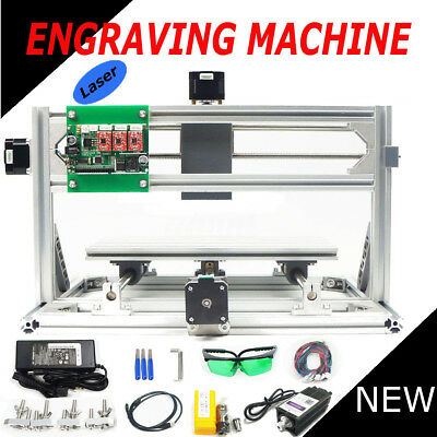 3 Axis 3018 GRBL Control & 500mw Laser DIY CNC Router Milling Engraving Machine
