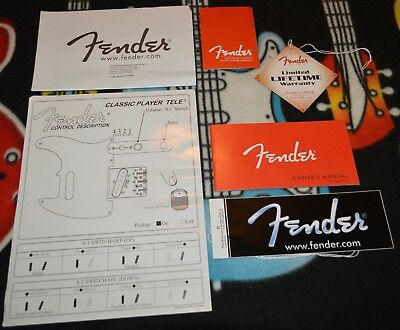 "Fender USA Classic Player Telecaster, Warranty, Tags, Paperwork - "" Case Candy """