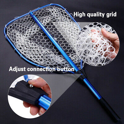 Portable Folding Fishing Landing Net ABS Telescopic Handle Fly Fishing Catcher