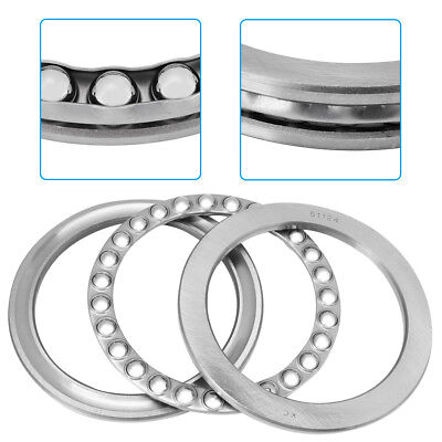 51124 120*155*25mm Axial Ball Thrust Bearing Kit(2 Steel Races + 1 Cage) Durable