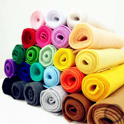 Solid Felt Fabric Soft Non Woven Wool Blend DIY Craft Material 1.4mm Thick
