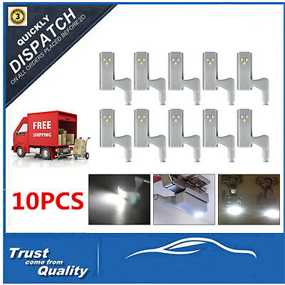 10PCS Cabinet Cupboard Closet Wardrobe Door Inner Kitchen Hinge LED Sensor Light