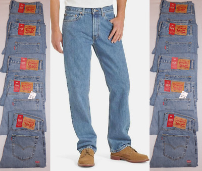 New Levi's 505 Men's Regular Fit Jeans Light Stonewash Choose a Size 005054834
