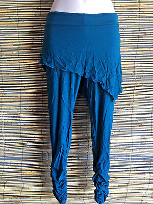Lot of 5 spandex good quality ruched leg leggings/pants.with overlay.funky style