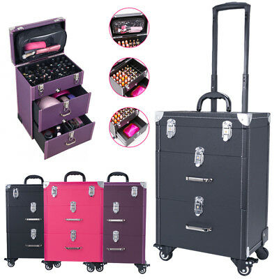 Professional Beauty Trolley Makeup Vanity Case Nail Cosmetics Hairdressing Box