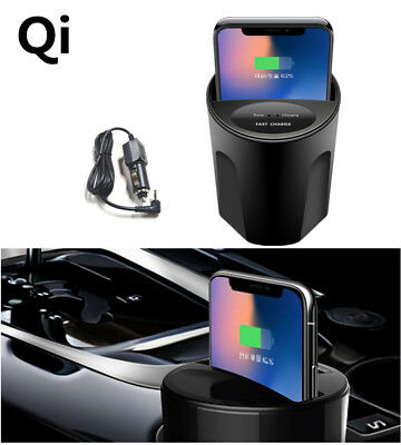 Wireless Cup Style Phone Mount Charger USB Car Charging Dock for Iphone X / 8 S8