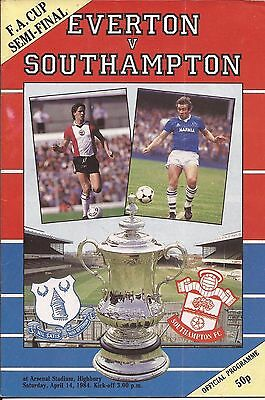 Everton v Southampton - FA Cup SEMI-FINAL - 14/4/1984 - Football Programme