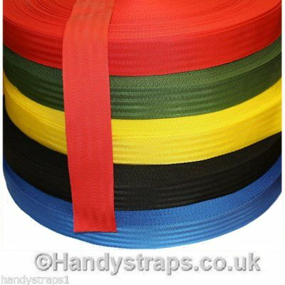 "50 meter x 50mm colour Polypropylene 2"" Herringbone Webbing In Various Colours"