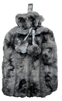 OCTAVE® Hot Water Bottle With Luxuriously Soft Faux Fur Cover & Pom Pom Tie