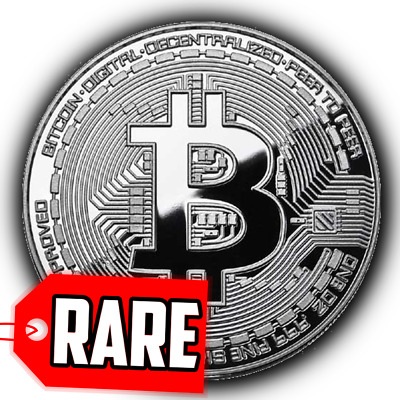 Bitcoin Rare 1 oz .999 Pure Solid Silver Plated Commemorative Coins Collectiable