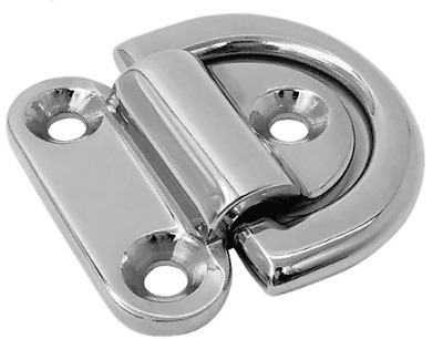 Folding Deck Pad Eyes / Lashing Ring Tie Down Stainless Steel Marine Grade