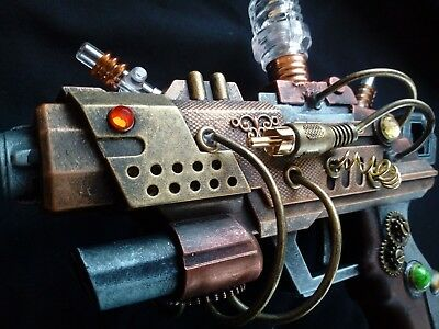 STEAMPUNK gun - modified toy, cosplay or display, working lights - G0007